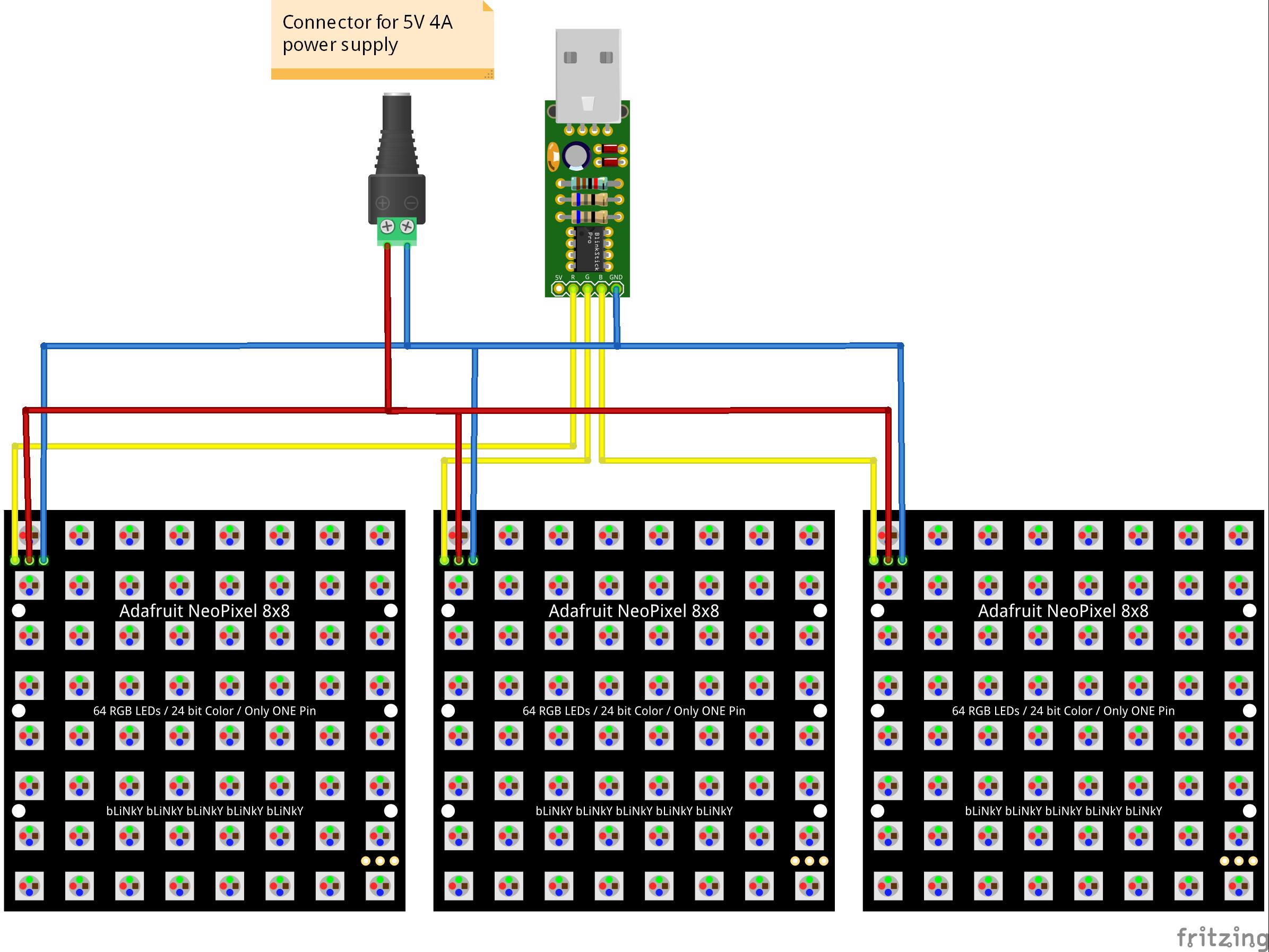 BlinkStick | BlinkStick Pro and Adafruit NeoPixel matrices